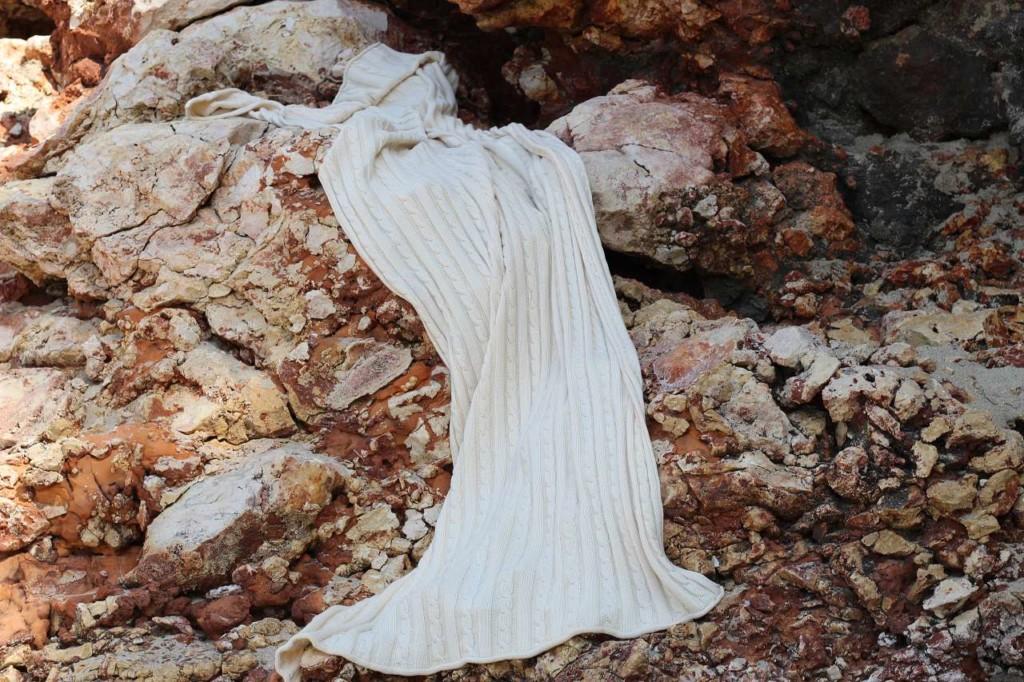 Langer Schal zum Kuscheln aus Biobaumwolle