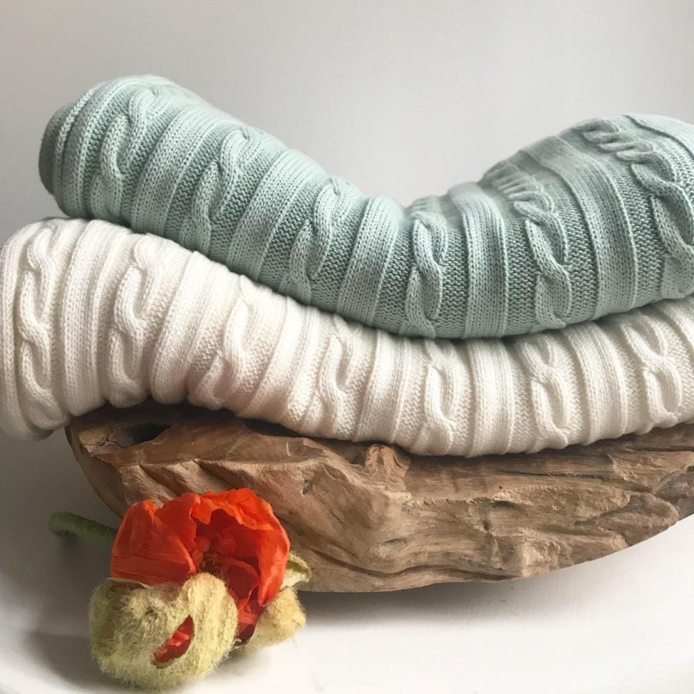 Mama-Schal aus Biobaumwolle mint