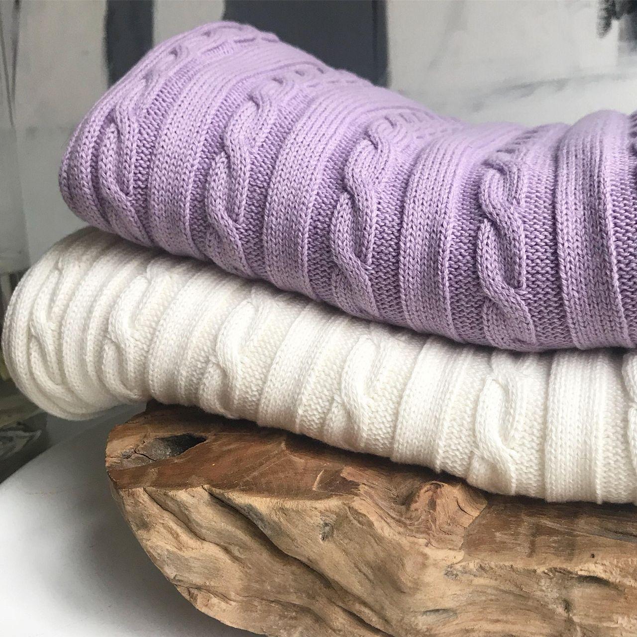Mama-Schal aus Biobaumwolle flieder